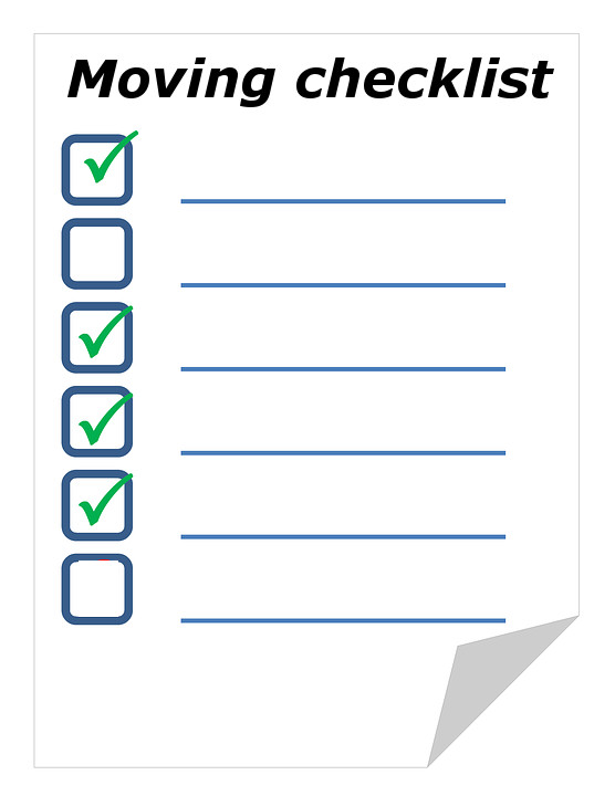 How to make an ultimate moving checklist