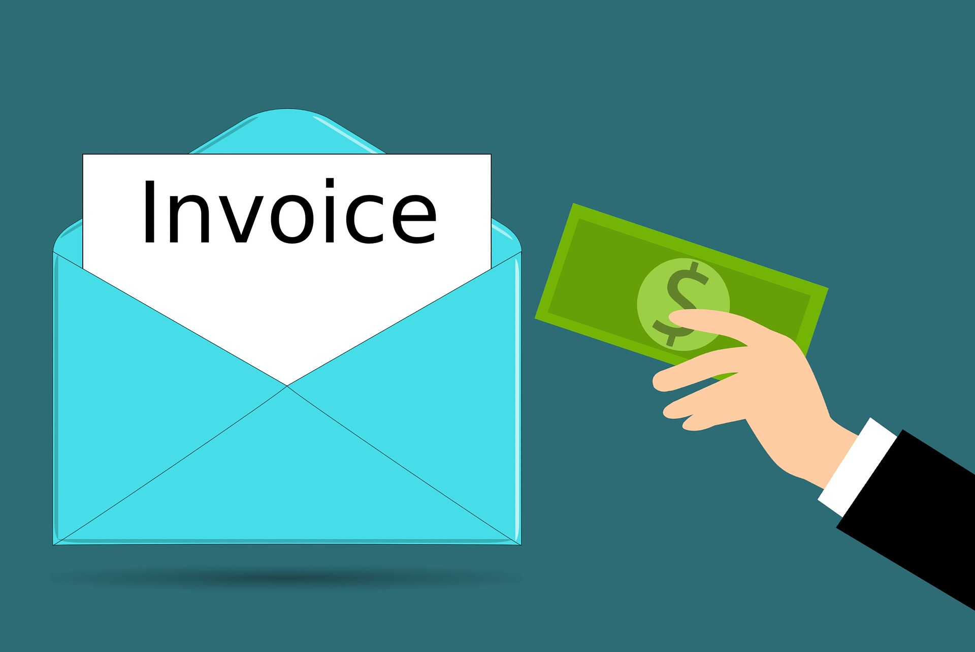 Paying the invoice