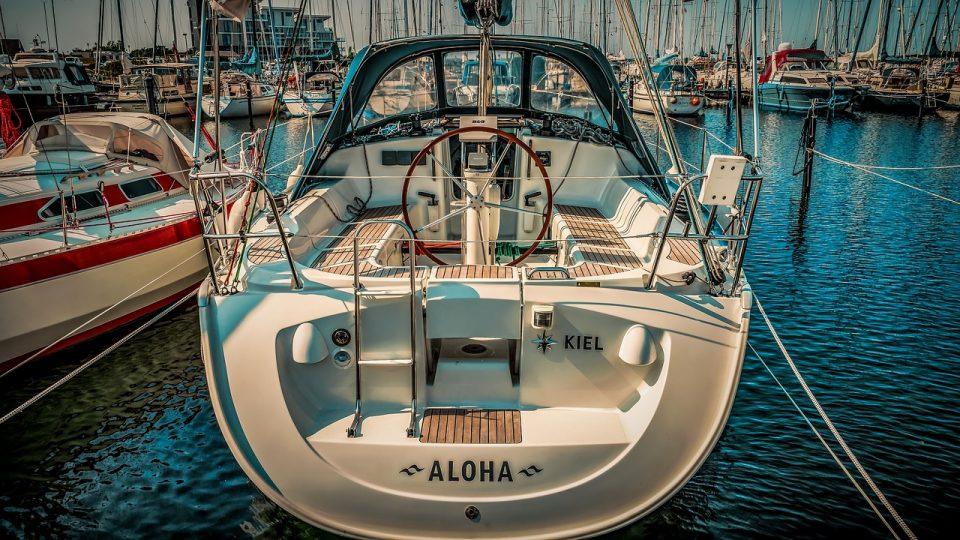 Rear side of a docked boat