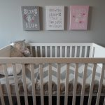 packing a nursery- baby cot, toys and linens
