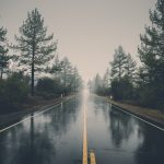 A rainy motorway
