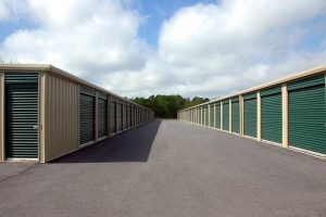 storage units in a row