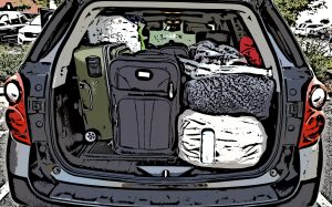 Packing a vehicle for a road trip
