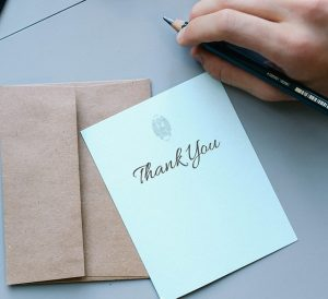 Thank you cards can be used for any occasion.