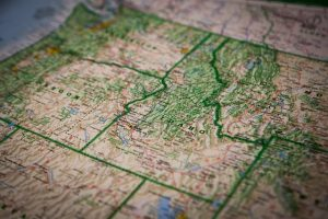 A map of Idaho and Oregon - these are just two of the top in-bound states dor relocation