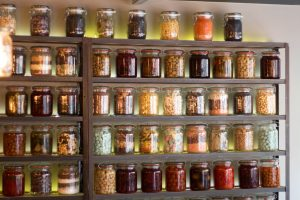 jars filled with food