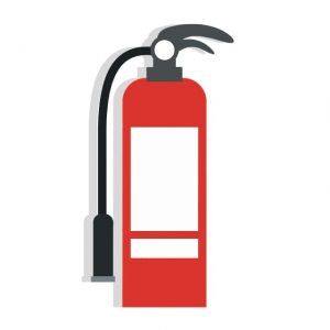 fire extinguisher, it is important to have one when storing flammable items