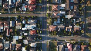 Top view of an urban neighborhood.