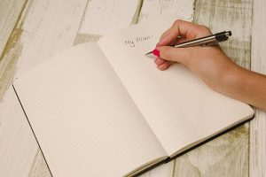 A notebook with plan writing