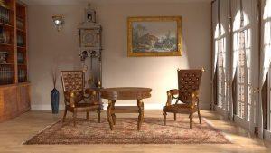 Antique furniture room