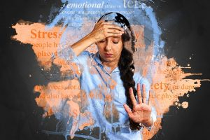 Woman suffering from moving stress