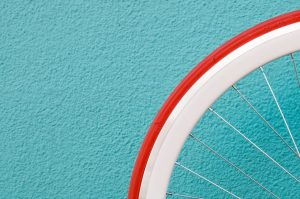 prepare bicycles for relocation that has white and red tires
