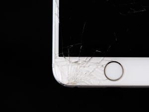 broken screen on the phone