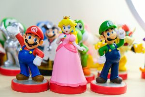 pack toys for moving and Mario figurines