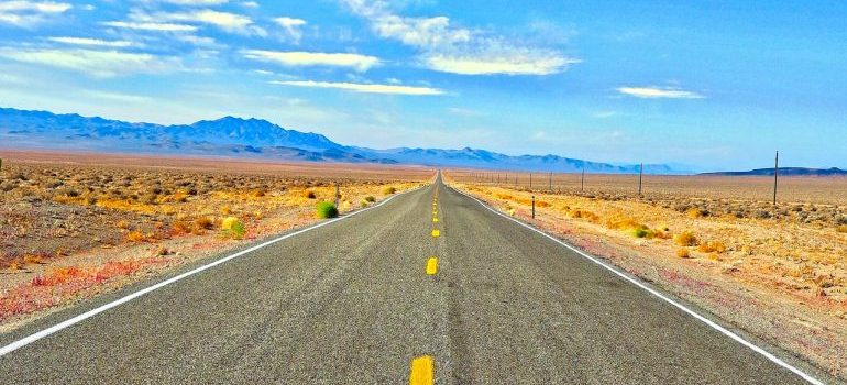 A highway in Arizona during daytime.