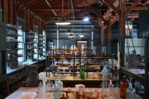 empty laboratory with only equipment inside