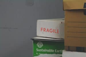 fragile sign on a moving box