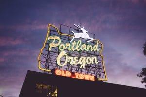moving to Portland - portland, Oregon sign