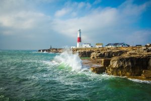 portladn lighthouse on a clif