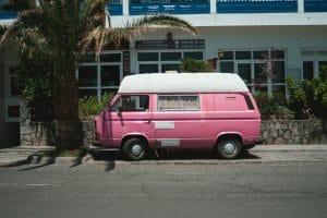 pink van