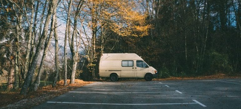 An old van parked