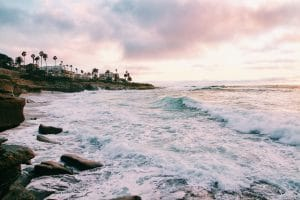 San Diego's beach during the day