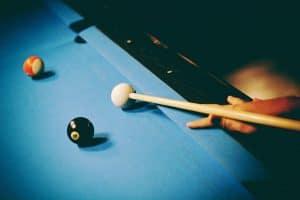 A man playing pool