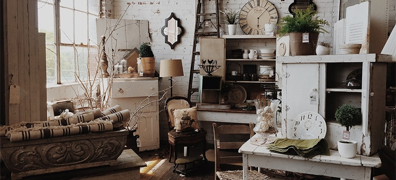 vintage room preparing for short distance moving