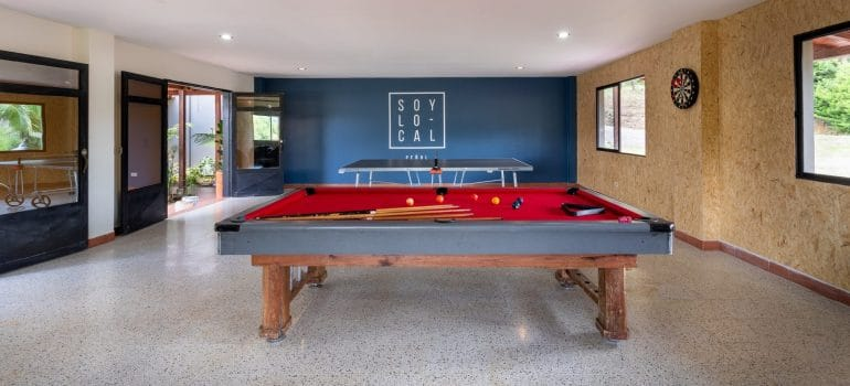 a large pool table
