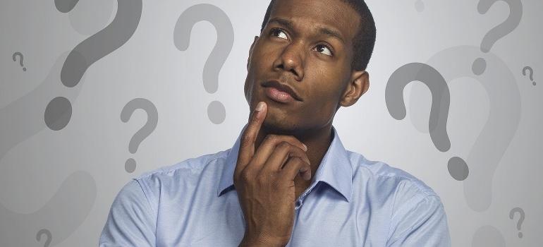 a man wondering